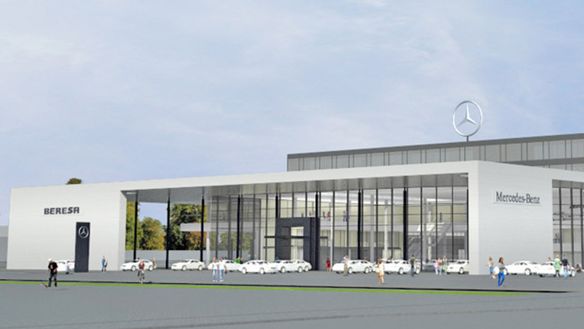 beresa baut neues autohaus in m nster. Black Bedroom Furniture Sets. Home Design Ideas