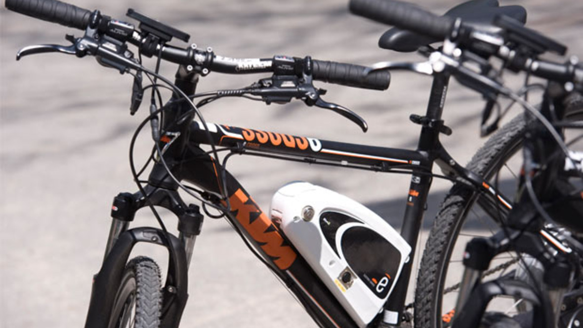 E-Bikes der Firma KTM
