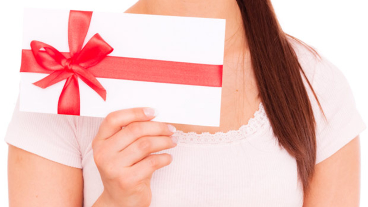 Gutschein Geschenk einlösen