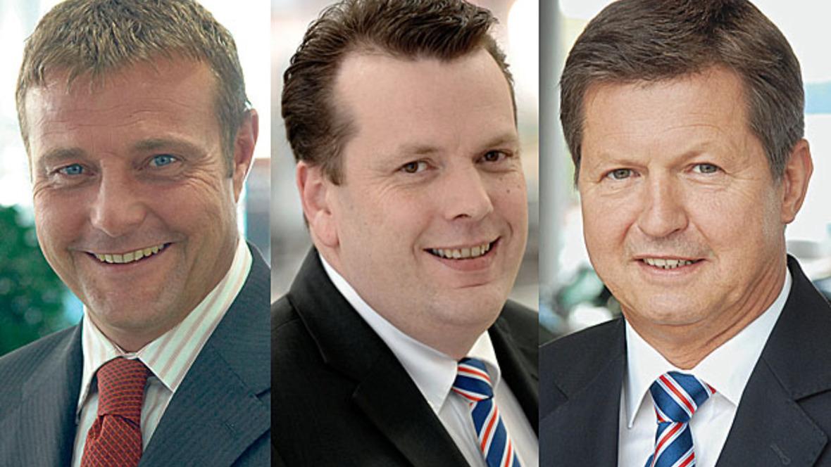 Michael Speh, Stefan Jansen und Reiner Schewior