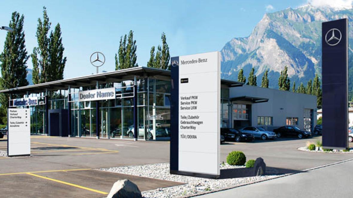 Neue Autohaus-Kennzeichnung bei Mercedes-Benz