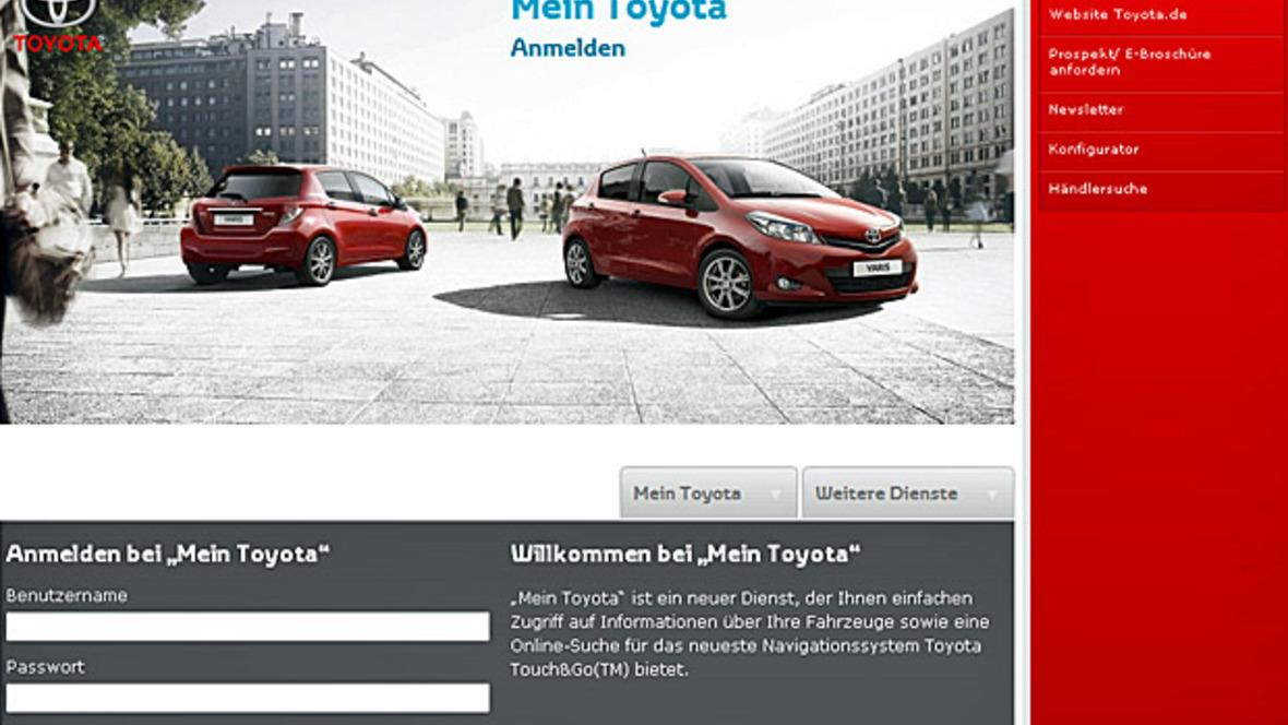 Website Mein Toyota
