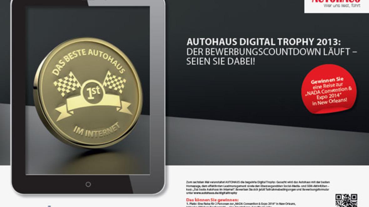 AUTOHAUS Wettbewerb digital trophy 2013