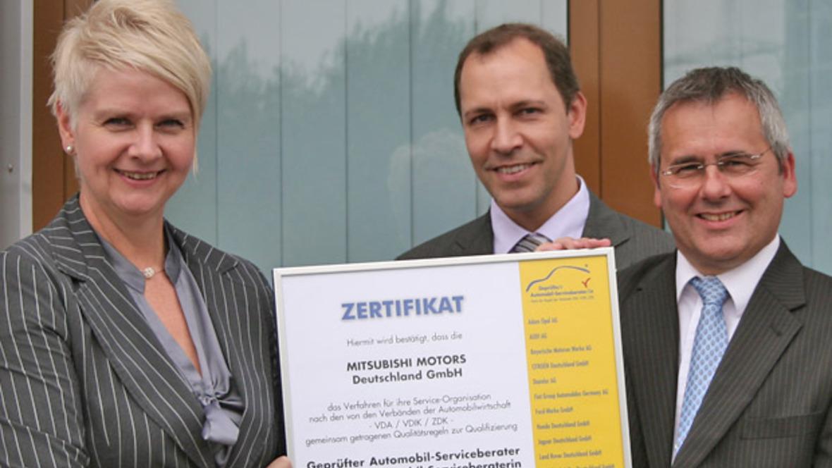 Mitsubishi erneut zertifiziert - autohaus.de