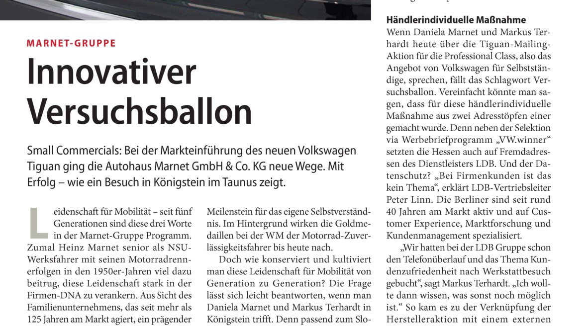 Innovativer Versuchsballon