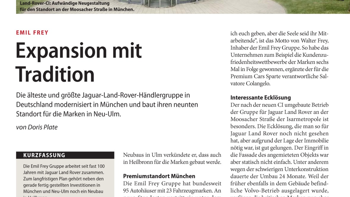 Expansion mit Tradition