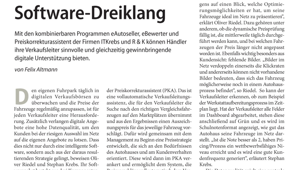 Software-Dreiklang