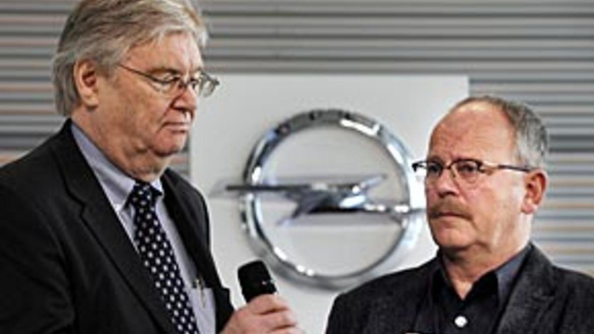 Opel-Chef Nick Reilly und Gesamtbetriebsratschef Klaus Franz