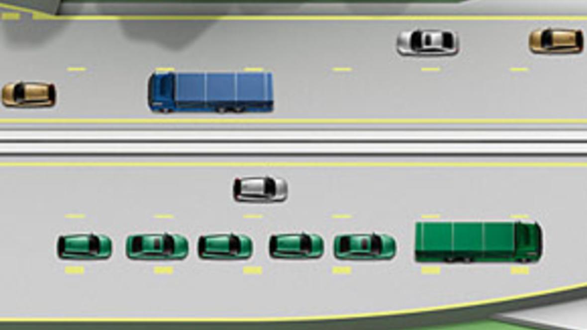 EU-Projekt Sartre: Organisierter Kolonnenverkehr auf Autobahnen