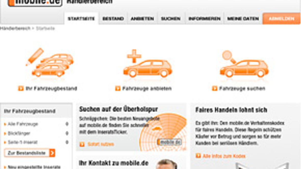 Mobilede überarbeitet Händlerbereich Autohausde