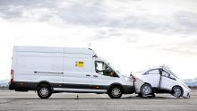 ADAC Test Notbremsassistent Transporter