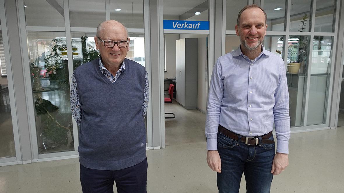 Apego-Zentrale; APEG Automarkt; Erwin Kaeß und Michael Plötscher