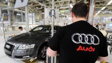 Mitarbeiter Audi Werk in Neckarsulm