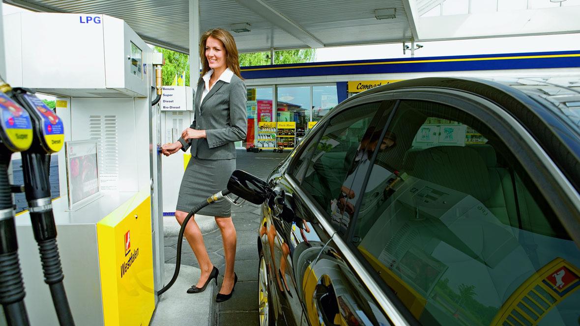 Autogas-Tankstelle von Westfalen