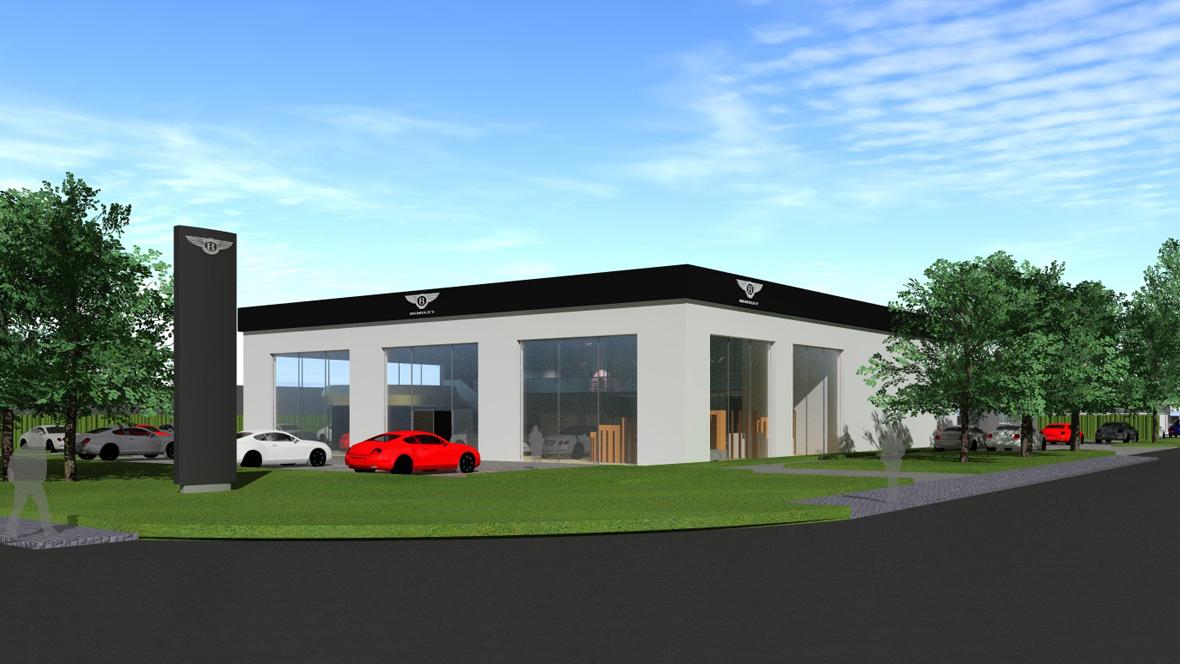 neuer bentley showroom f r roth. Black Bedroom Furniture Sets. Home Design Ideas