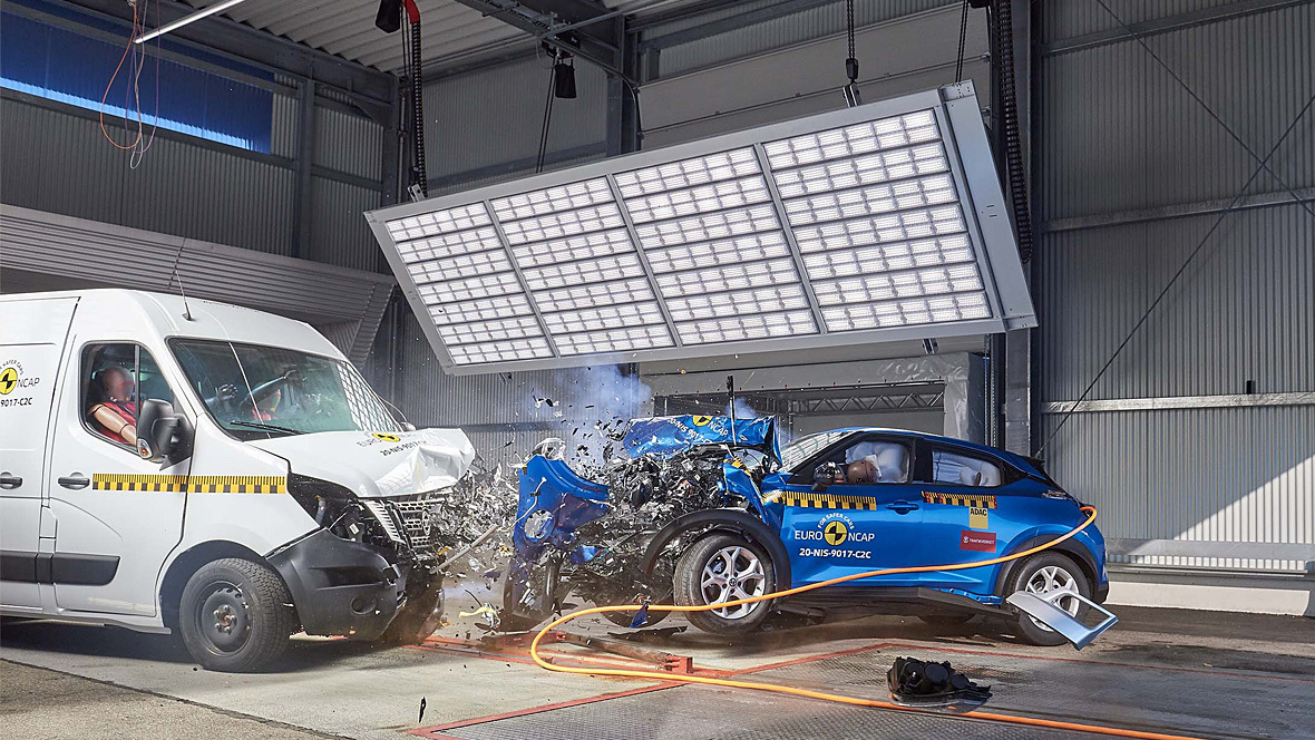 Crashtest Transporter Pkw EuroNCAP ADAC