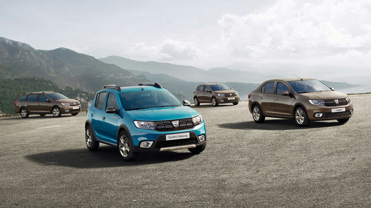 Dacia Logan, Logan MCV, Sandero und Sandero Stepway