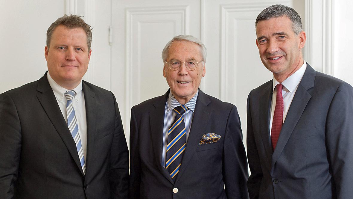 Kurt Kröger mit Christian Cuypers und Björn Böttcher