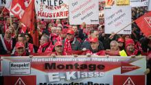 Demonstration IG Metall Arbeitnehmer Stuttgart Autoindustrie