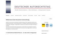 Deutscher Autorechtstag 2018 Screen