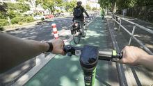 E-Scooter Berlin Radweg