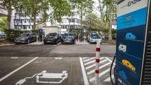 EnBW; Schnelladesäule, Urbane Schnellladeparks; Ladestation; Elektromobilität; E-Auto; Stromtankstelle; Ladesäule
