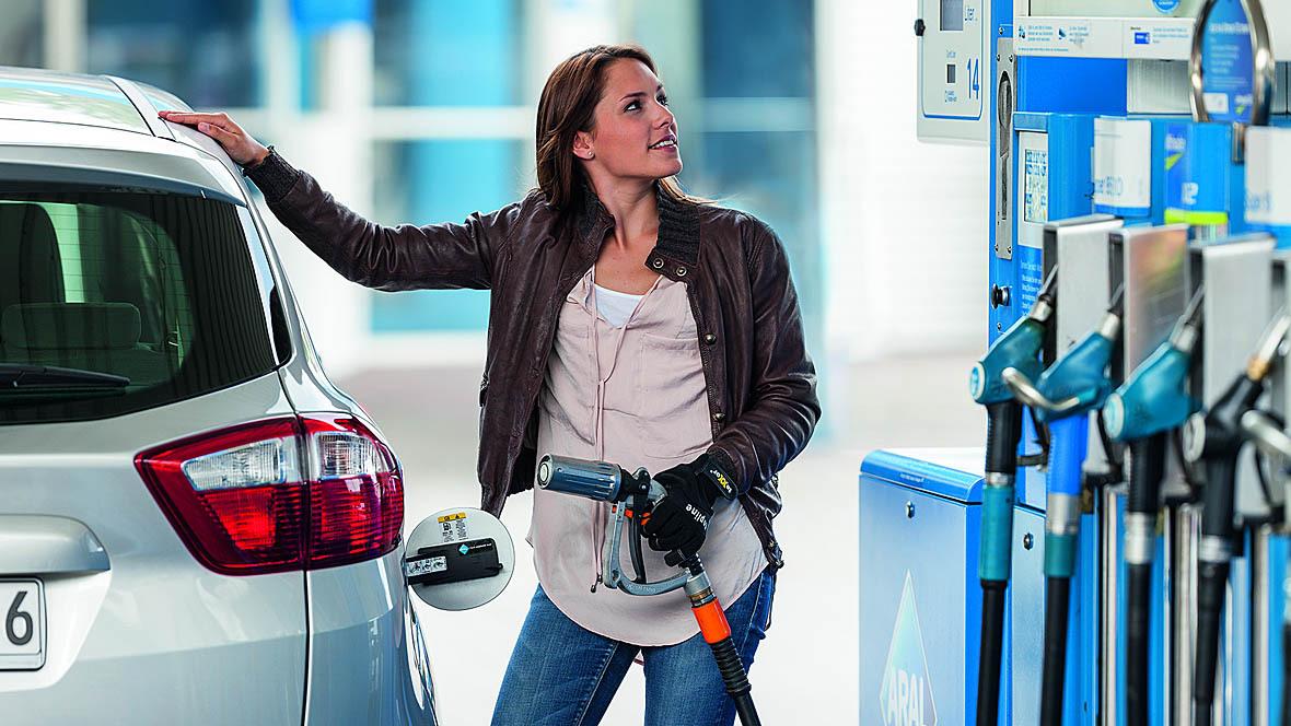 Erdgas Tankstelle