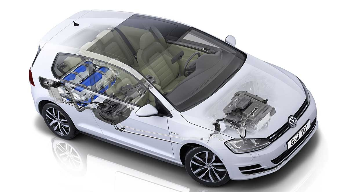 Erdgas-Antrieb VW