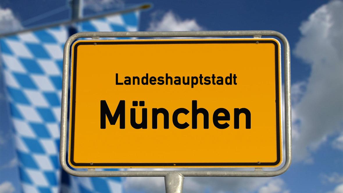 Ortsschild München Bayern