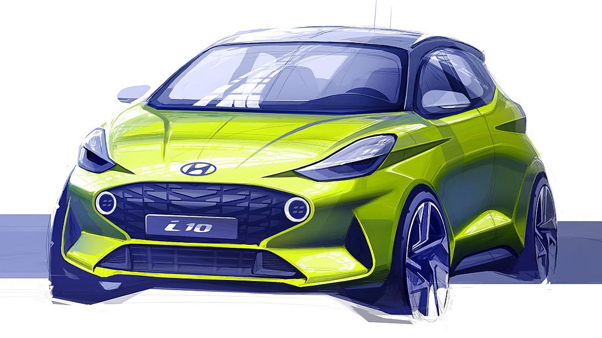 Hyundai i10 Skizze