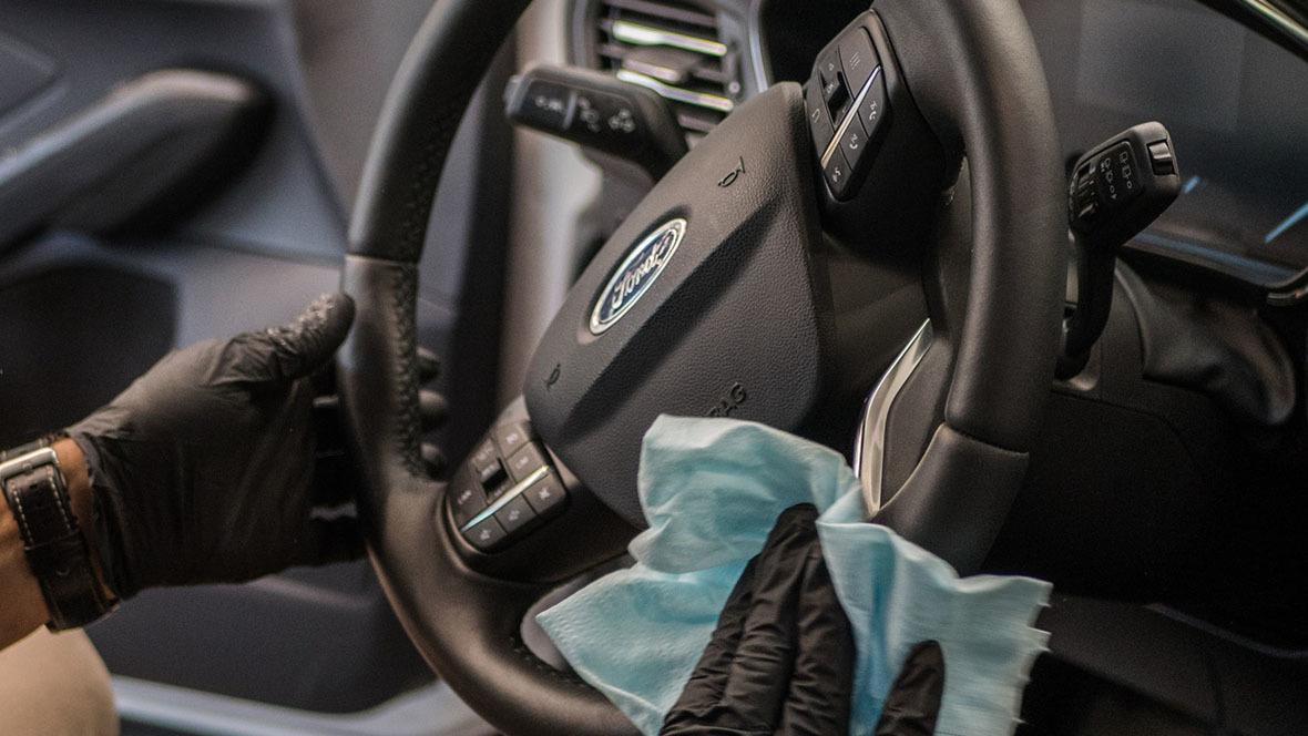 Wischdesinfektion Fahrzeug
