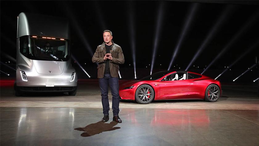 Tesla E-Lkw und Roadster