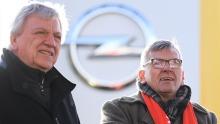 Volker Bouffier und Jörg Hofmann