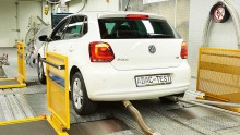Abgastest VW Polo