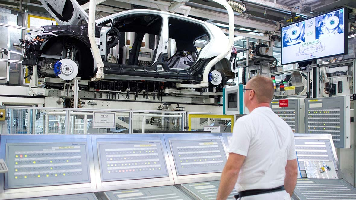 Produktion des Golf im VW-Werk Wolfsburg