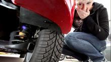 Reifen Schraube Reifenpanne