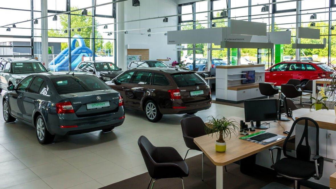 skoda autohaus schandert in dessau. Black Bedroom Furniture Sets. Home Design Ideas