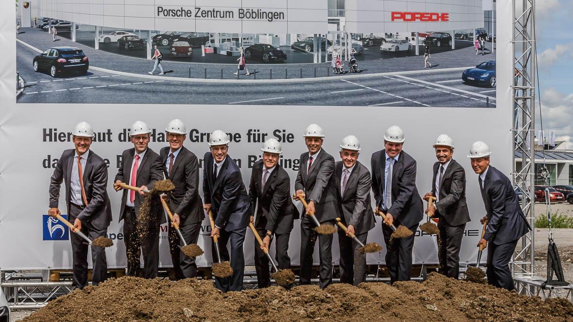 Spatenstich f r neues porsche zentrum for Porsche zentrum boblingen