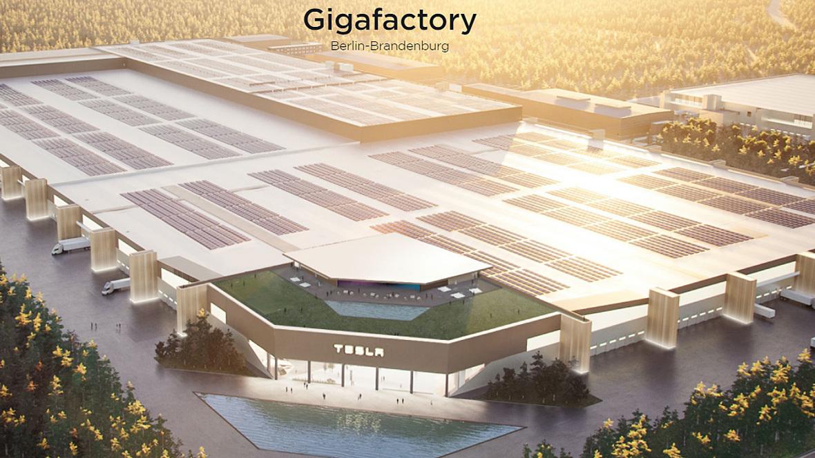 Geplante Tesla Gigafactory Grünheide