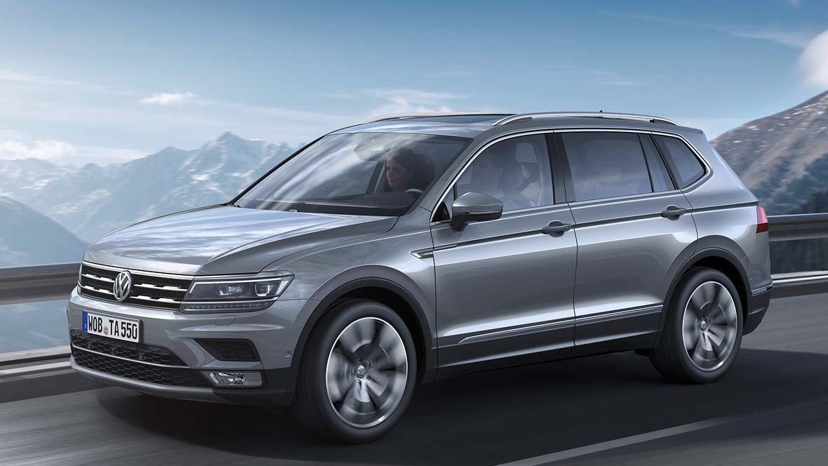 vw tiguan allspace ab mai bestellbar. Black Bedroom Furniture Sets. Home Design Ideas