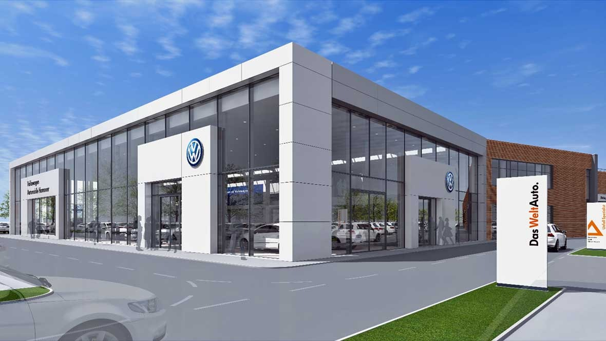 vw baut neues autohaus in hannover. Black Bedroom Furniture Sets. Home Design Ideas