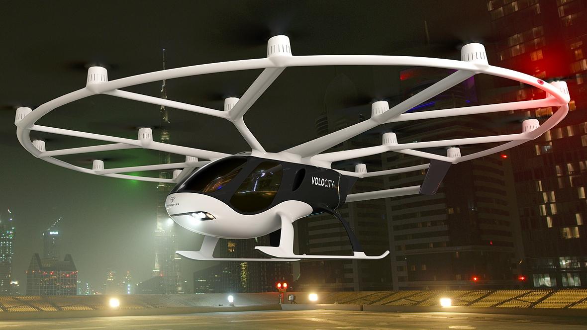 Der Volocity soll das erste kommerzielle Flugtaxi von Volocopter werden