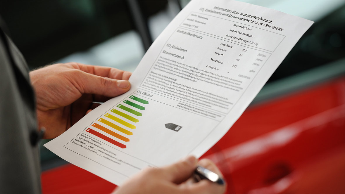 Verbrauchskennzeichnung Pkw-Label Effizienzklasse