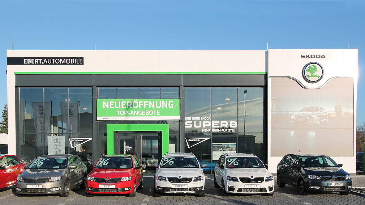 ebert gruppe mit neuem skoda standort. Black Bedroom Furniture Sets. Home Design Ideas