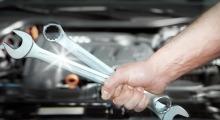 Schraubenschlüssel für Autoreparatur