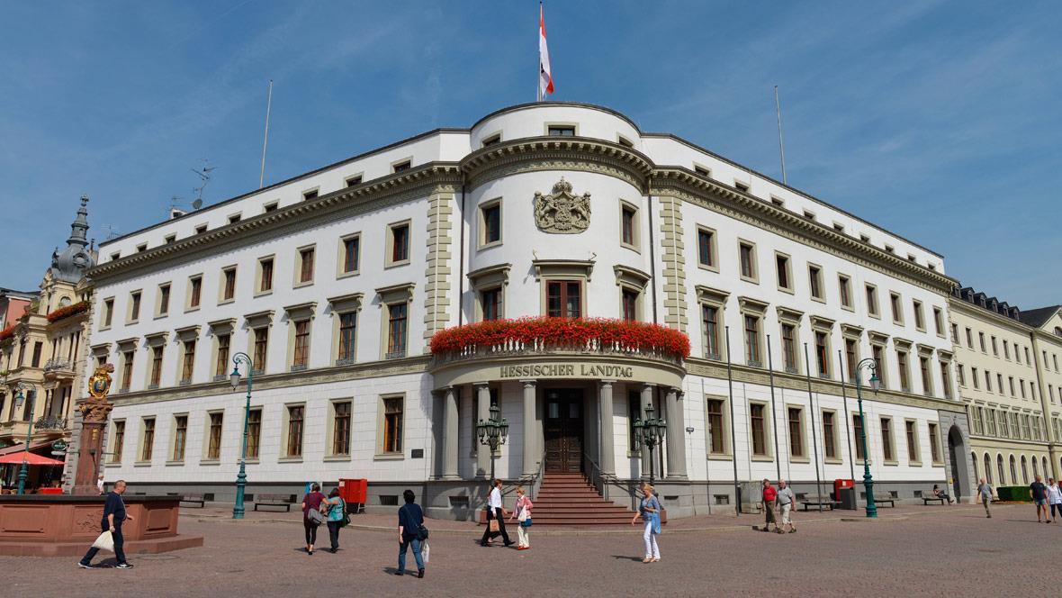 Hessischer Landtag Schlossplatz Wiesbaden